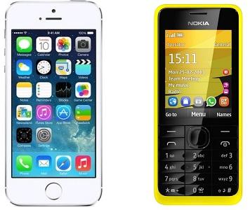 smartphone tlačítkový mobil