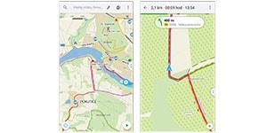 turistická navigace do mobilu mapy.cz