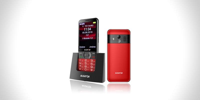 nejlepší tlačítkový mobil pro seniory aligator a900